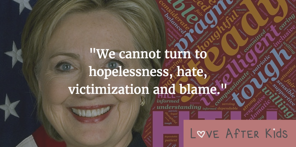 We cannot turn to hopelessness, hate, victimization and blame