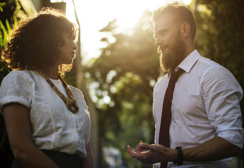 When you're in a committed relationship, it is much more important and realistic to work on the issues in your relationship versus trying to solve them.