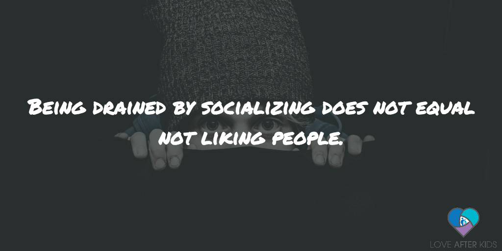 Being drained by socializing does not equal not liking people.
